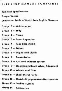 1958 Opel Repair Shop Manual Original