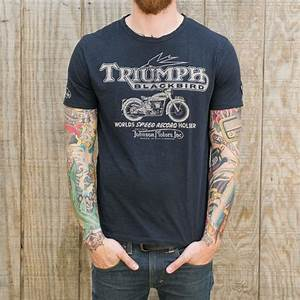 Triumph x Johnson Motors Blackbird T-Shirt - T-Shirts ...