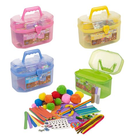 127 piece children s arts craft set case carry handle