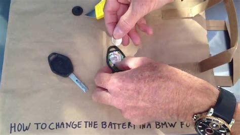 replace bmw key battery youtube
