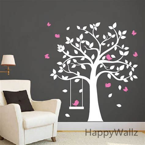 stickers arbre pour chambre bebe bird and tree wall stickers peenmedia com