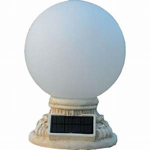 Homebrite solar light white outdoor led globe entry with frosted glass the