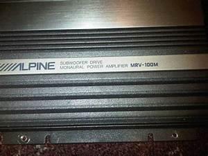 Sold Alpine V12 Mrv-100m Subwoofer Amp - Acurazine