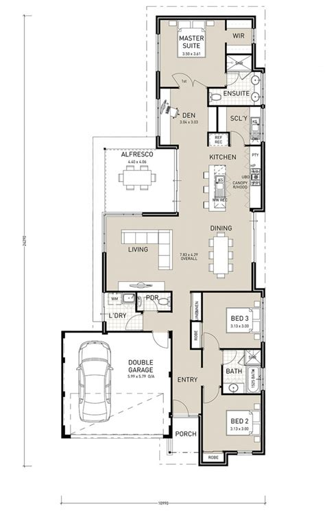 Amusing Narrow Block House Designs South Australia