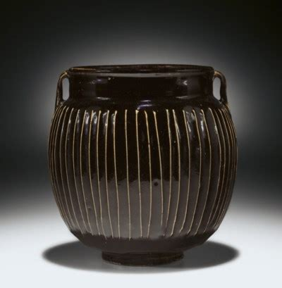 Blackish Brown Color by A Blackish Brown Glazed Ribbed Jar Guan Song Jin
