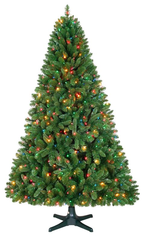 revolving christmas trees with lights 6 5ft sherwood pine christmas tree with 450 multi colored