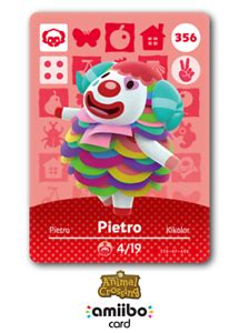 Like nintendo's amiibo figures, these cards can be used to gain bonuses in games. 356 Pietro, Animal Crossing Amiibo Card Series 4, US, Never Scanned