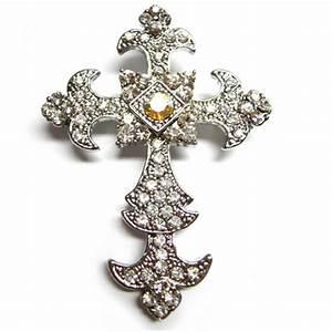 Cross Brooch Embellishments - Luxury Wedding Invitations