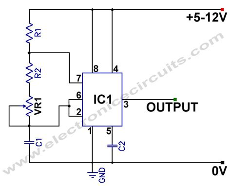 Variable Frequency Square Wave Generator Electronic