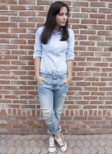 Cindy Fashion blogger on www.glamour-blog.com - Zara Shirt Zara Boyfriend Jeans Allstars ...