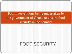 Four interventions being Undertaken by the government by ...
