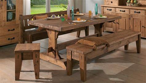 table en pin massif brocante
