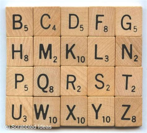 scrabble tiles vintage foreign letters odd point values