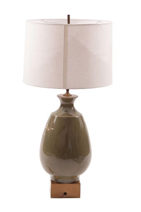modern table pair of glazed terra cotta brass table ls