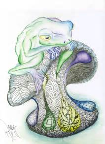 Cool Mushroom Drawings Frogs