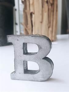 b zinc letter With zinc letters