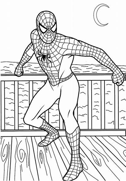 Coloring Pages Spiderman Super Hero Colouring Printable