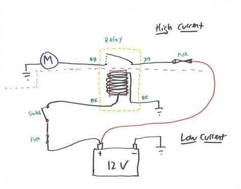 Simple 12 Volt Horn Wiring Diagram by Relay Schematic Wiring Diagram Getting Started Of Wiring