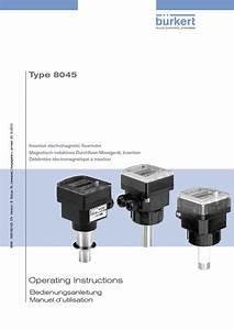 Burkert Type 8045 User Manual