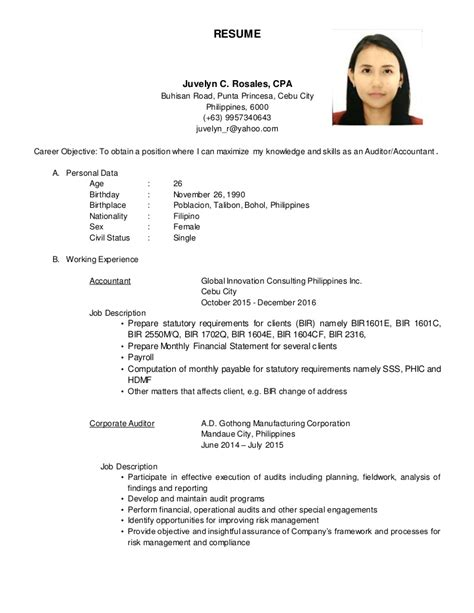 resume juvelyn c