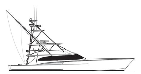 Boat Drawing Outline by Custom Sportfish Yachts And Service From Jarrett Bay Boatworks