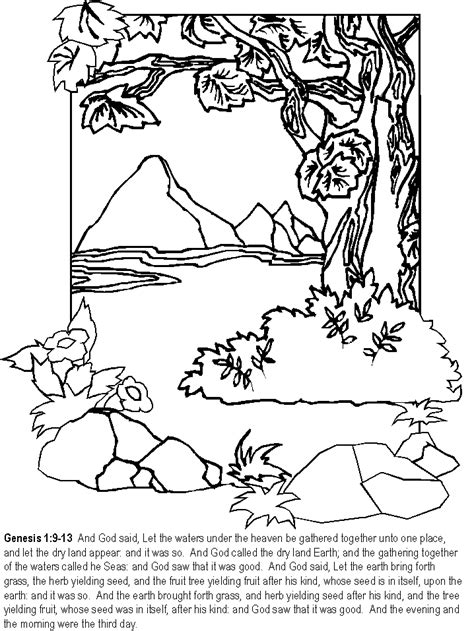 day bible coloring pages coloring page book  kids