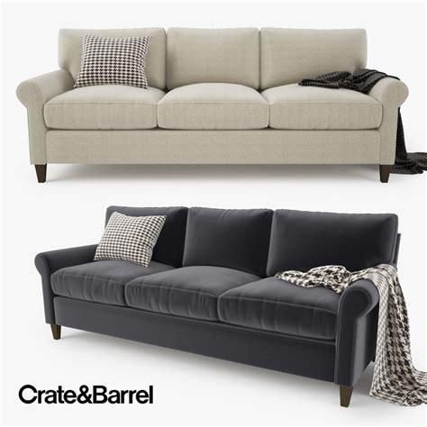 crate and barrel settee 3d model crate barrel montclair sofa