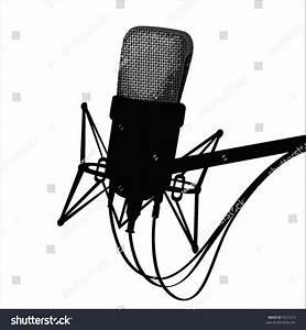 Studio Microphoneblack White Stock Vector 9321319 ...