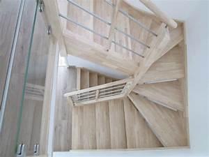 Comment Vitrifier Un Escalier : top escalier demi tournant with comment vernir un escalier ~ Farleysfitness.com Idées de Décoration