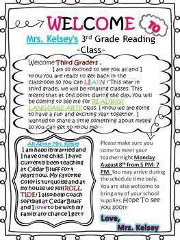 image result  sample  letter  students