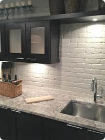 Faux Brick Kitchen Backsplash 15 Diy Kitchen Backsplash Ideas Tipsaholic