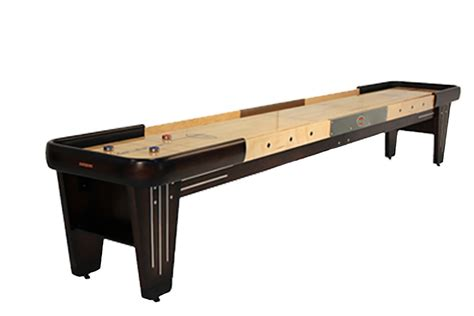12 ft shuffleboard table 12 foot rock ola walnut shuffleboard table mcclure tables