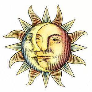 vintage sun illustration - Google Search | Antique ...