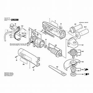 Bosch Angle Grinder Pws 850ce  0 603 405 902  Parts