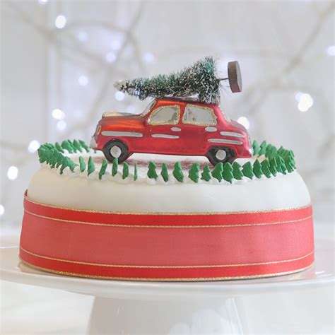 christmas cake decorating ideas woman  home