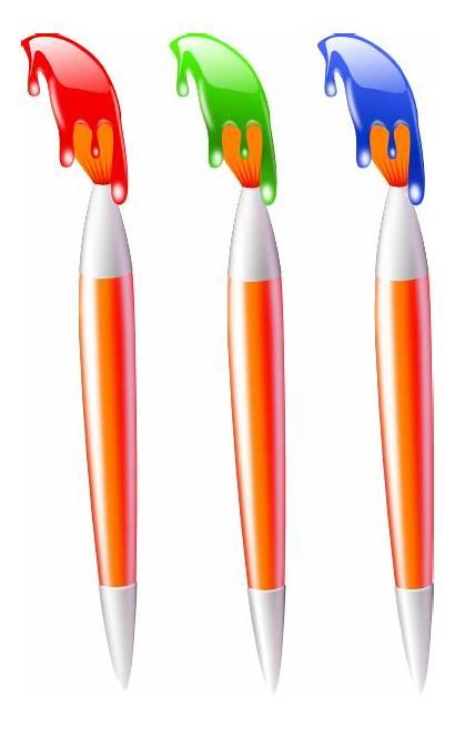 Paint Brush Clipart Paintbrushes Vector Clip Splatter
