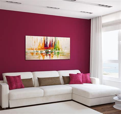 bureau tableau 2 en 1 tableau peinture déco voilier coloré artwall and co