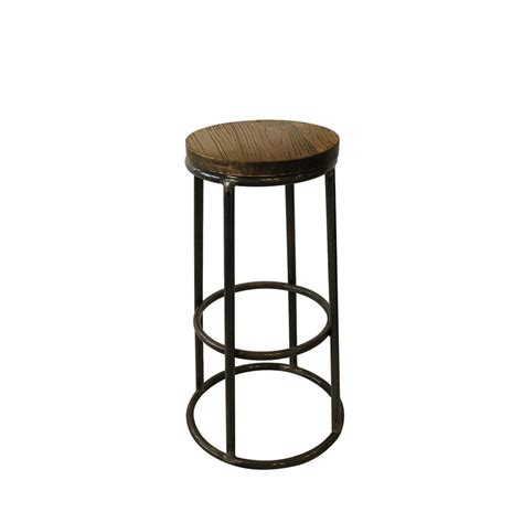 tabouret de cuisine en bois tabouret de bar indus bois métal fredo par drawer fr