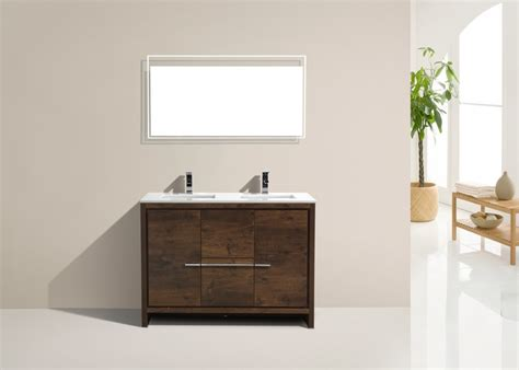 kubebath dolce  double sink rose wood modern bathroom