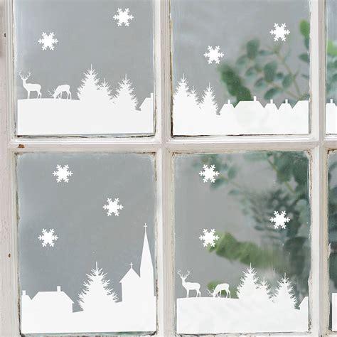 christmas village scene vinyl stickers  nutmeg