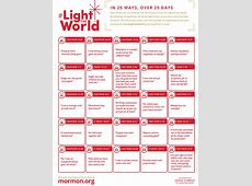 """Church Announces """"Light the World"""" Service Campaign for"""