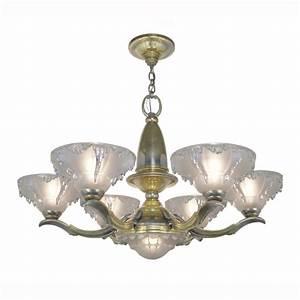 Art deco antique chandelier french ezan style icicle