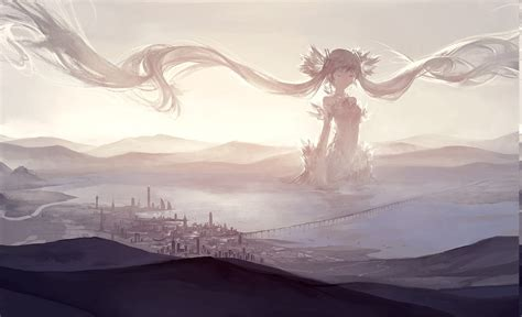 Anime Backgrounds For Desktop by Anime Landscape Hatsune Miku Vocaloid Wallpapers Hd