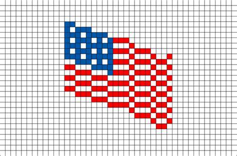 american flag pixel brik