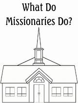 Coloring Church Missionaries Robbygurl Creations sketch template