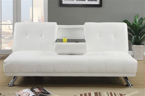 white leather sofa bed poundex f7029 white twin size leather sofa bed steal a