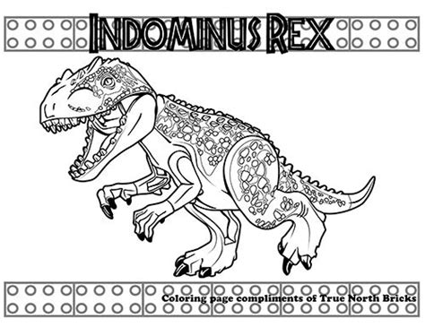 Indominus Kleurplaat by Jurassic World Doodle Lego Coloring Lego Coloring
