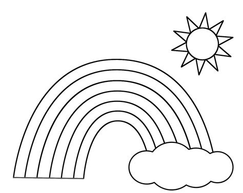 rainbow coloring page rainbows pinterest