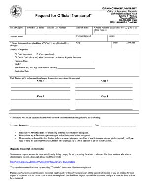 grand canyon university transcript request form asu application print fill online printable fillable