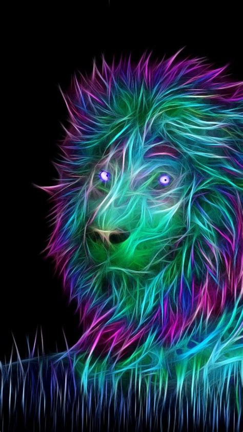 wallpaper  abstract  art lion iphone